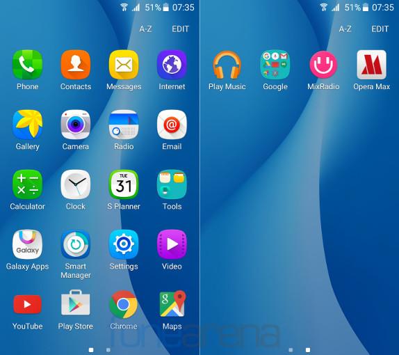 Samsung Galaxy On5 Apps