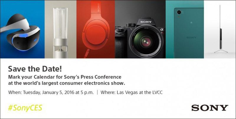 Sony CES 2016 Invite