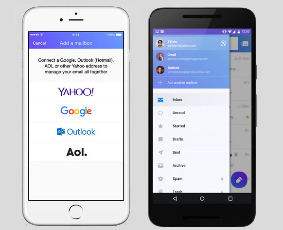 Yahoo Mail for iPhone and Android Gmail inbox