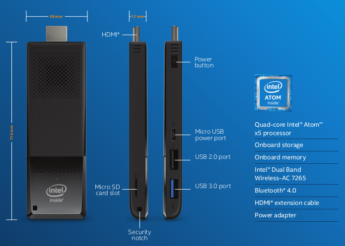 Intel Compute Stick With Core M Processors 4k Support