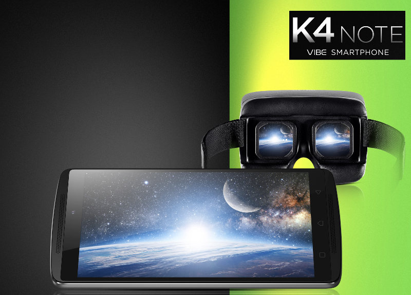 Lenovo Vibe K4 Note and VR headset