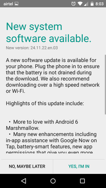 Motorola Moto G Turbo Edition Android 6.0