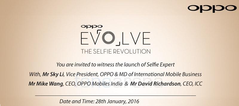 OPPO F1 India launch invite