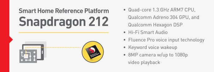 Qualcomm Snapdragon 212 smart home reference platform