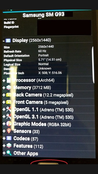Samsung Galaxy S7 5.7 inch variant