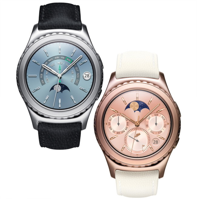 Samsung Gear S2 Classic Rose Gold and Platinum