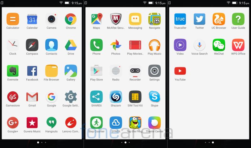 Lenovo Vibe K4 Note Apps