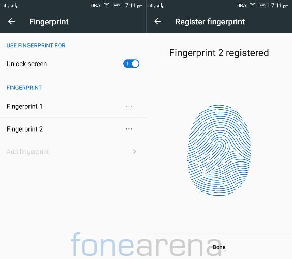 Lenovo Vibe K4 Note Fingerprint