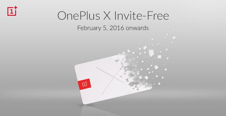 OnePlus X invite-free India