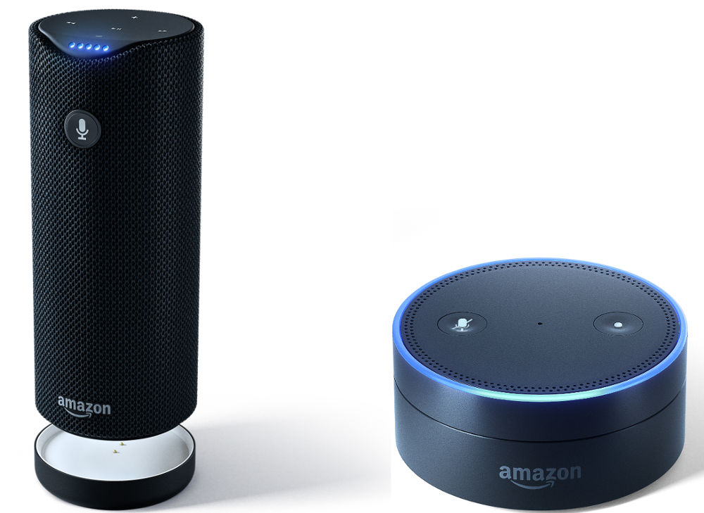 Amazon Tap and Echo Dot