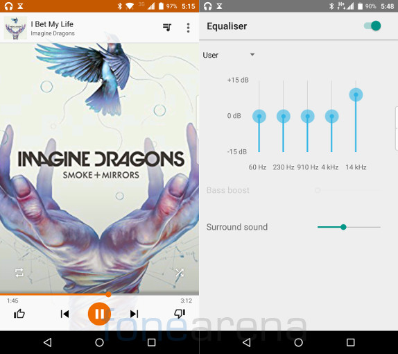 BlackBerry Priv Music Player