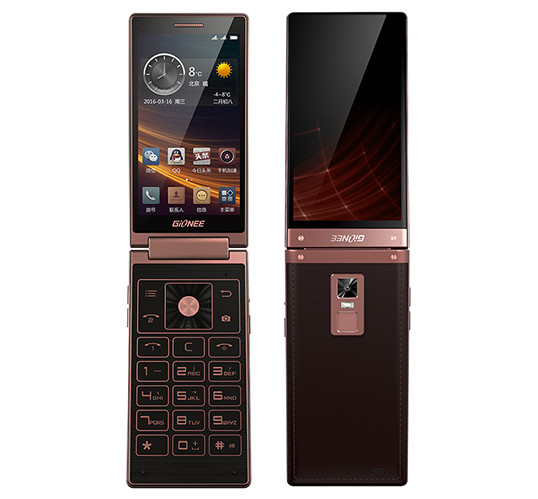 Gionee W909 dual-screen Android flip phone with Helio P10