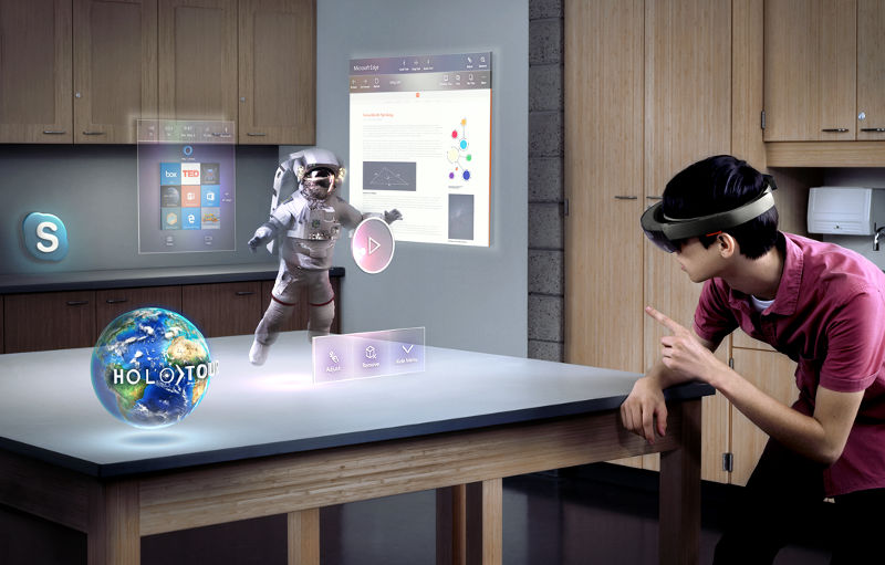 Microsoft HoloLens Mixed Reality Space
