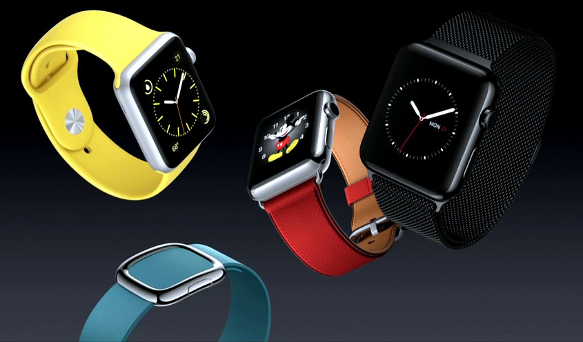 New Apple Watch sport and leather bands, Space-Black Milanese loop