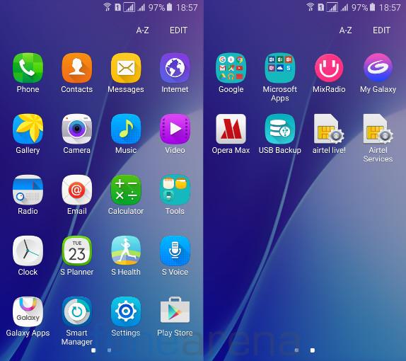 Samsung Galaxy A5 2016 Apps