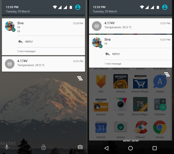 WhatsApp for Android Quick Replies