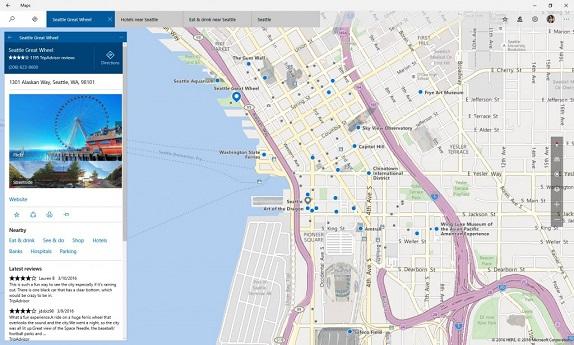 Windows 10 Maps app