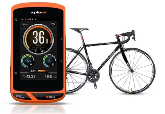 Acer Xplova X5 cycling