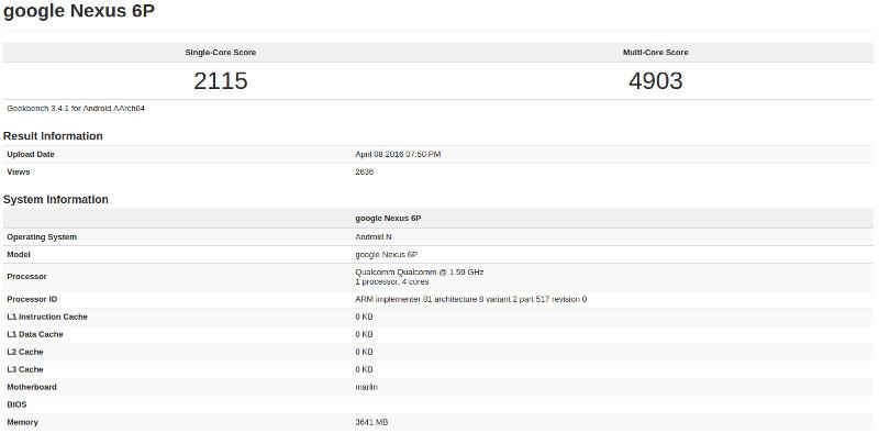 Google Nexus Snapdragon 820