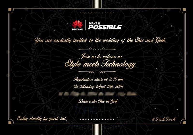 Huawei April 11 event invite