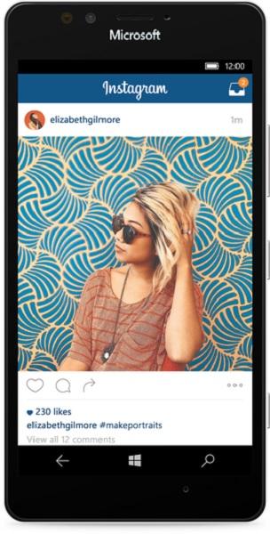 Instagram W10 app