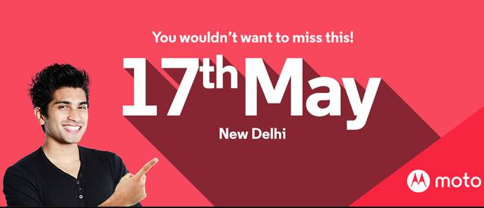 Motorola India event invite May 17