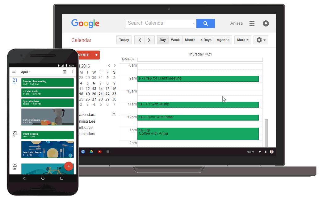 Reminders Google calendar