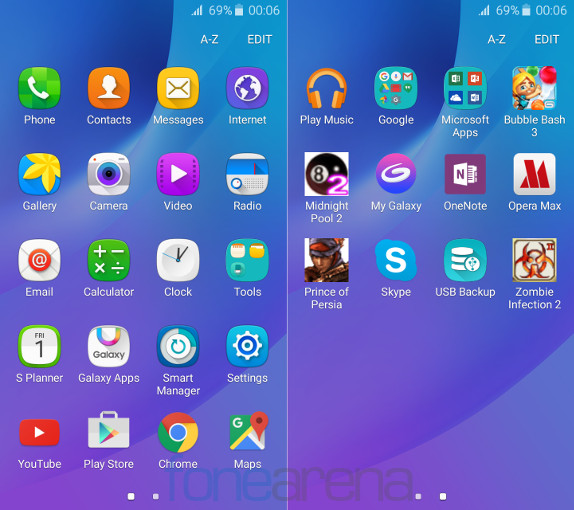 Samsung Galaxy J3 2016 Apps