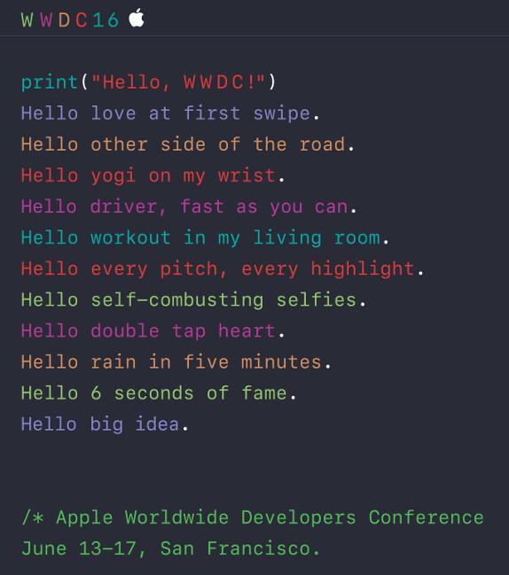 WWDC 2016 registration