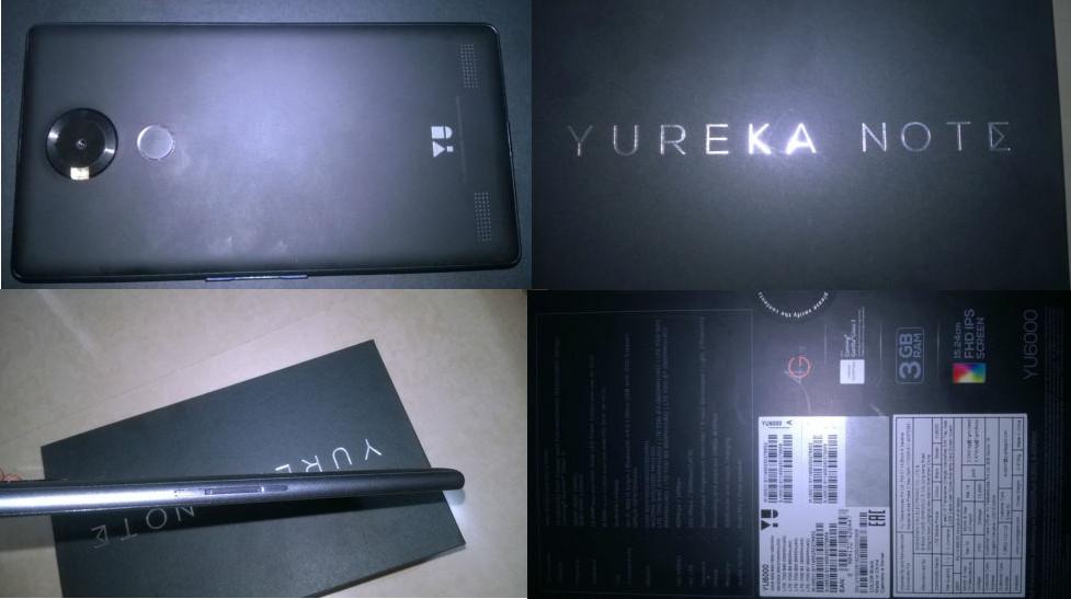 newest 52f0e d9152 YU YUREKA NOTE with 6-inch 1080p display, fingerprint sensor now ...