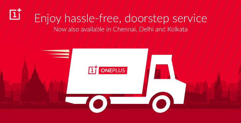 OnePlus free pick up and drop India