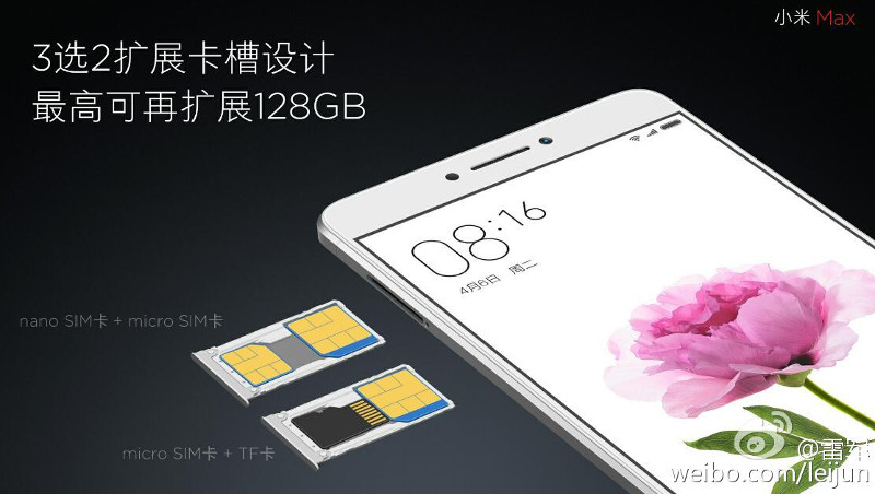 Xiaomi Mi Max Hybrid SIM