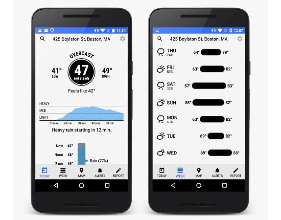 Dark Sky hyperlocal iOS weather app now available for Android, free