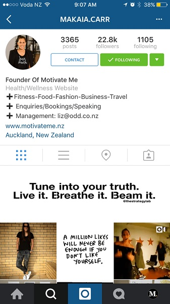 instagram biz profile