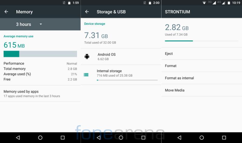 Moto G4 Plus RAM, Storage, Format as internal