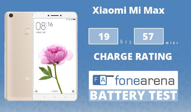Xiaomi Mi Max FA One Charge Rating
