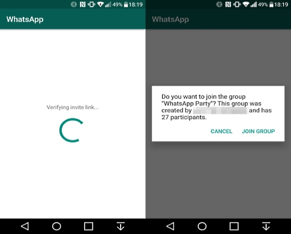 Whatsapp S Upcoming Group Invite Link Feature Partially Working In