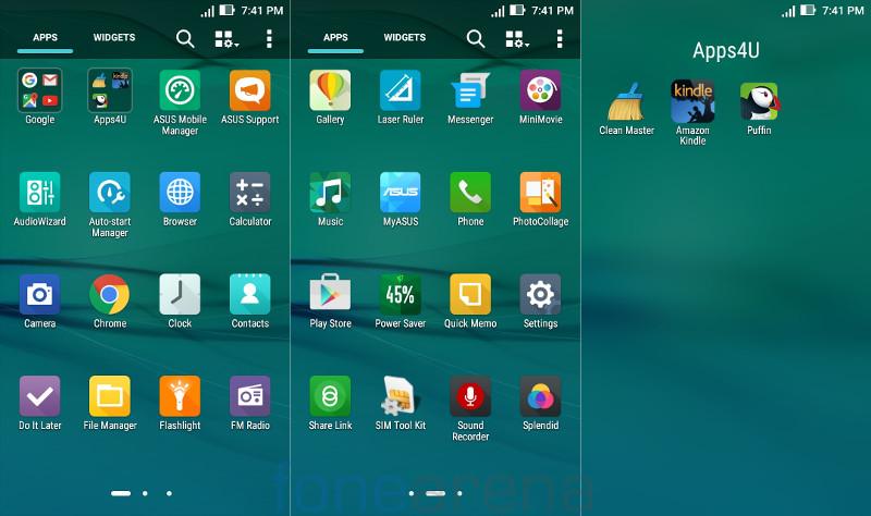 Asus Zenfone Max 2016 Apps