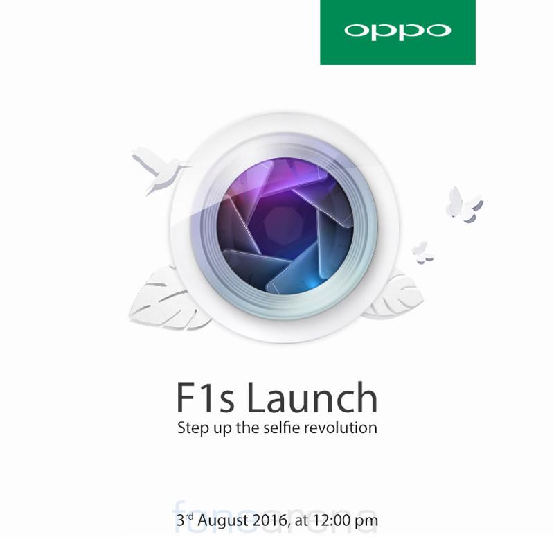 OPPO F1s India launch invite
