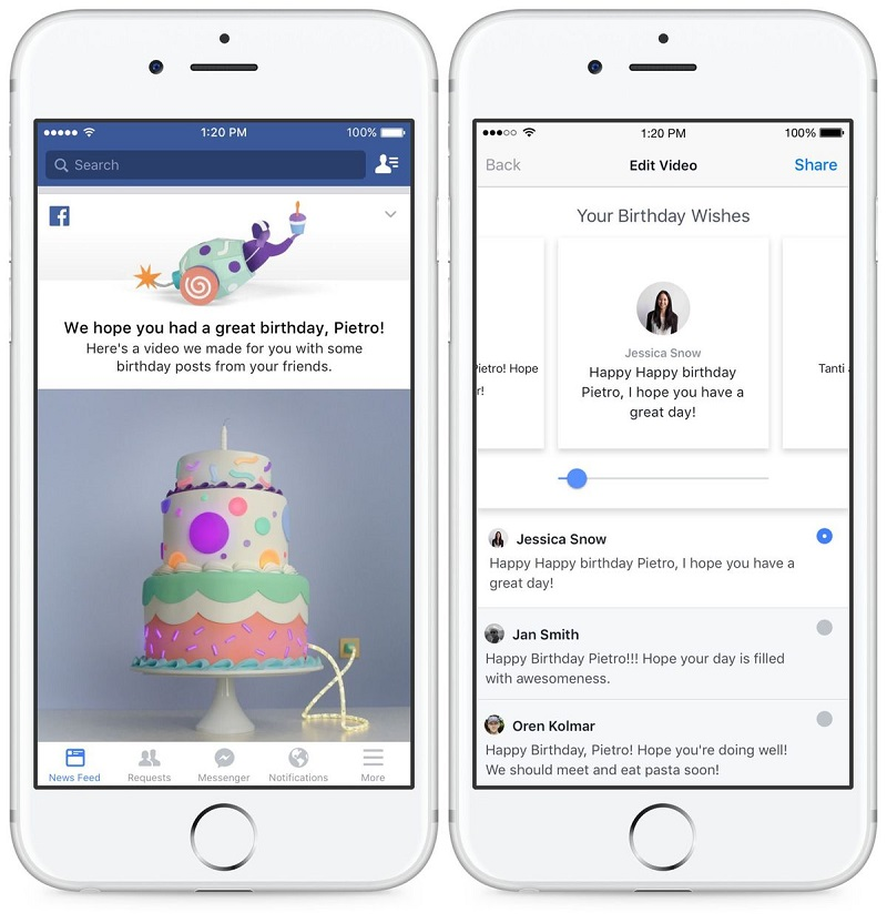 Facebook S New Feature Turns Your Birthday Wishes Into A Video