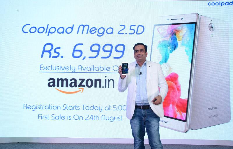 Coolpad Mega 2.5D India launch