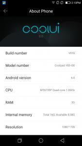 Coolpad Mega 2.5D UI 6