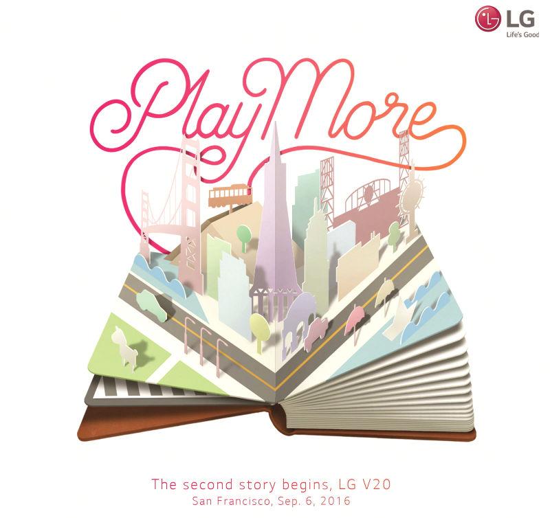 LG V20 launch invite September 6