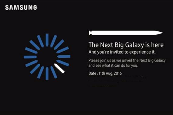 Samsung Galaxy Note7 India launch invite