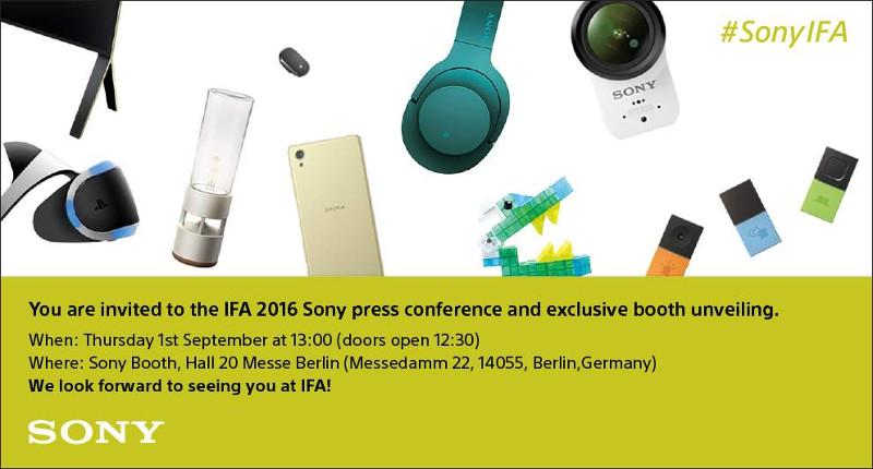 Sony IFA 2016 invite