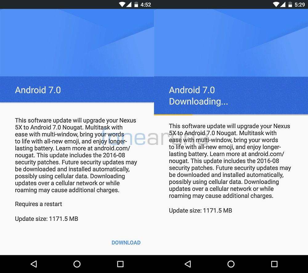 How to get Android 7.0 Nougat OTA update instantly for your Google Nexus  device