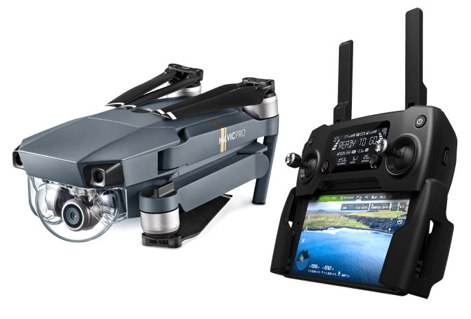 DJI Mavic Pro is a compact, foldable Drone with 4K video ...