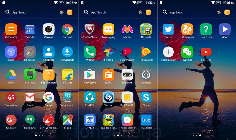 Lenovo Vibe K5 Note Apps