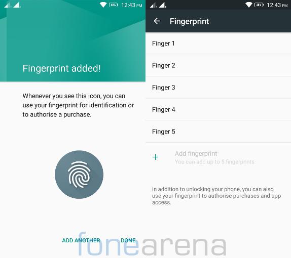 Lenovo Vibe K5 Note Fingerprint sensor