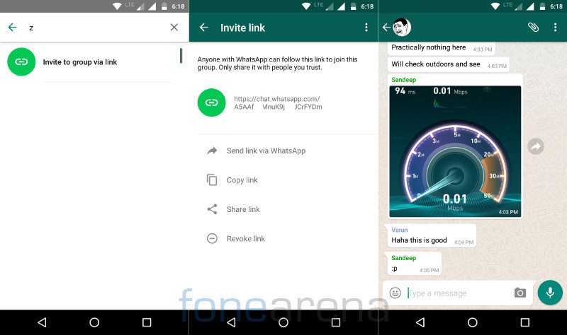 WhatsApp for Android beta gets public group invite links and quick